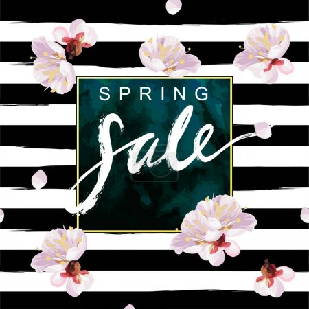 Spring Sale card with lettering