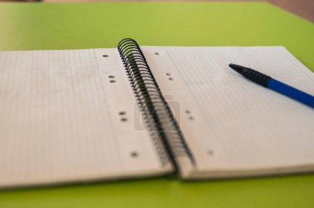 Blank paper for note with pencil,