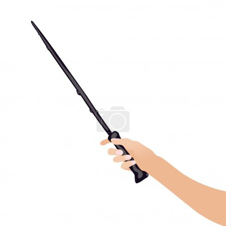 magic wandin hand for witches and wizards vintage  sticks  witchcraft schools  fantasy games