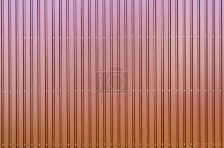 Red corrugated galvanised iron cladding