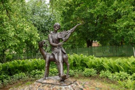Monument to Mark Chagall at his parents' house in Vitebsk,