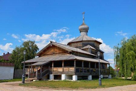 An old wooden Church on the island of Sviyazhsk in Kazan.