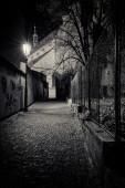Prague streets at night