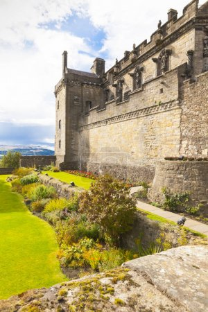 Stirling Castle side view Scotland in summer