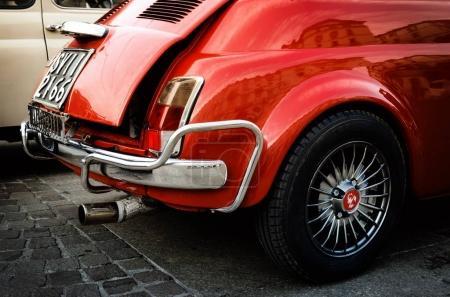 Fiat 500 Abarth classic car in Turin