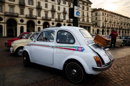 Fiat 500 classic car in