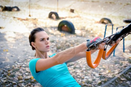 Woman during workout