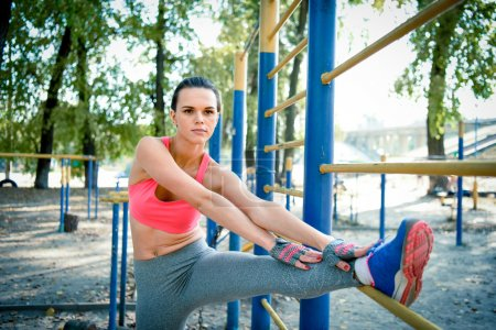Young Woman Stretching Outdoor