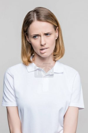 attractive stressed woman