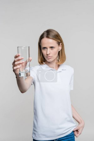 woman with empty glass
