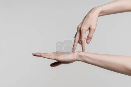 gesturing female hands