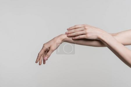 tender female hands