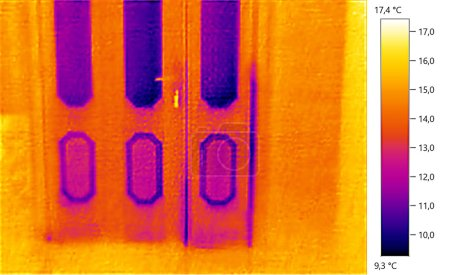 Photo for Image photo thermal, door; color scale - Royalty Free Image