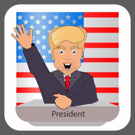 donald trump president smile hand