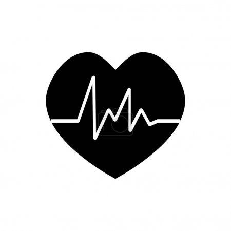 Heart beat rate icon, fitness and exercises concep...