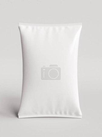 Photo pour Blanc blanc feuille alimentaire Snack Sachet emballage sac. illustration 3D. Haute qualité - image libre de droit