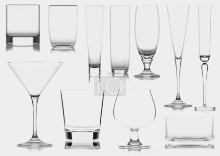 Photo for Glass cup, isolated. 3D illustration. High quality - Royalty Free Image