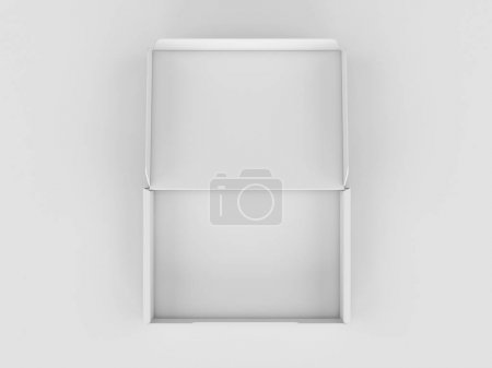 Photo for White Cardboard box. Mock Up. 3D illustration. High quality - Royalty Free Image
