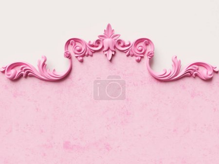 Photo for Card with ornament decoration. 3D illustration - Royalty Free Image
