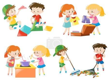 Illustration pour Illustration des activités des enfants - image libre de droit