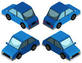 3D design for blue car