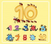 Numbers from One to Ten with Cute Animals
