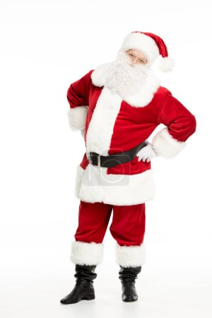 Photo for Full length view of Santa Claus posing and gesturing isolated on white - Royalty Free Image