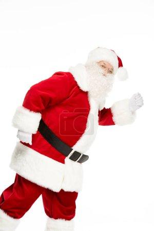 Santa Claus posing and gesturing