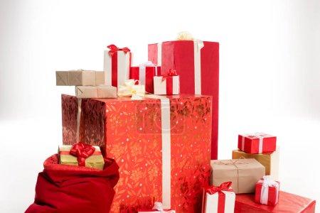 Pile of Christmas gifts