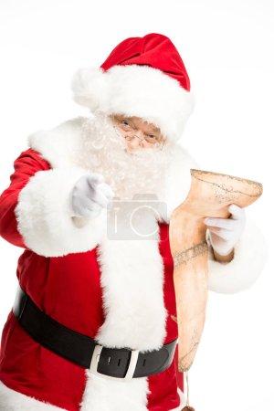 Santa Claus reading wishlist
