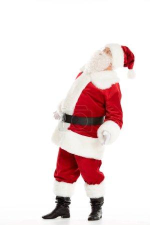 Santa Claus looking up