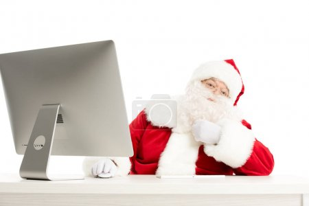 Santa Claus with with thoughtful expression