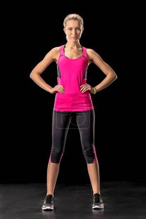 Sporty woman in sportswear