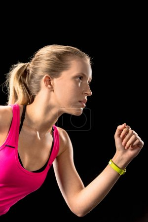 Young sportswoman running
