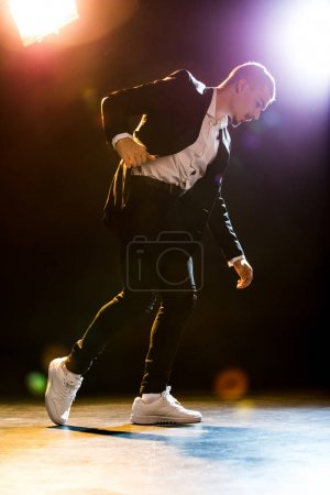 Stylish man dancing