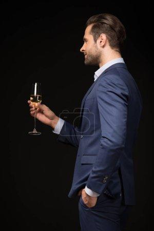 Young man celebrating