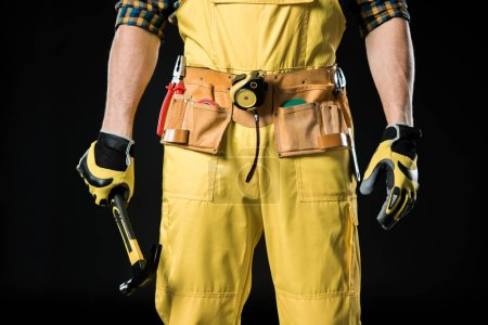 Workman in tool belt