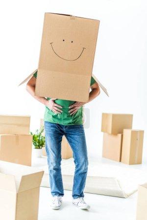 Man with cardboard box