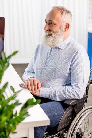 Senior patient in wheelchair