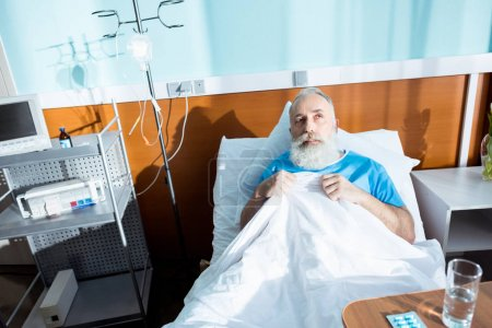 Senior man in hospital