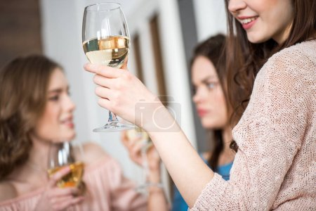 Women with glass of wine