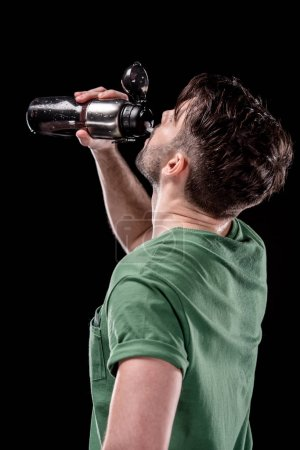 Man with sport bottle of water