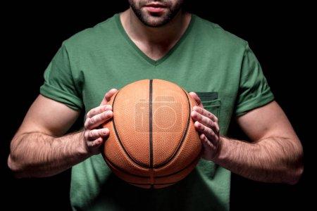 man with basketball ball