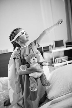 Girl playing in hospital
