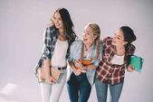 Happy girls students