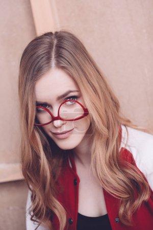 Stylish woman with eyeglasses