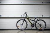 Mountain bike at wall