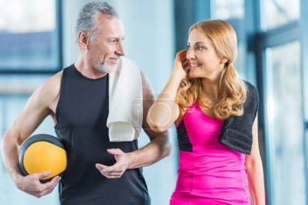Sporty man and woman