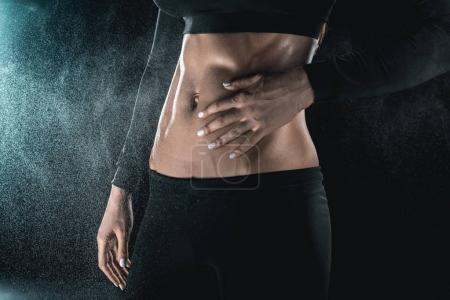 Woman's muscular body