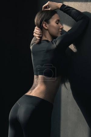 Sporty woman posing